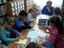 Lekcja biblioteczna w GBP Obryte
